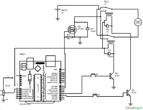 arduino dc motor speed and direction control using relays