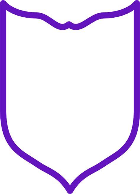 purple shield simple clip art  clkercom vector clip