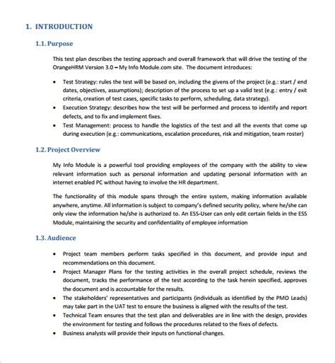 Test Policy Template by 9 Software Test Plan Templates Sle Templates