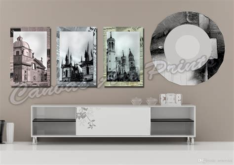Home Decor Paintings 3 Panel Classic Paris Oil Painting On: 2019 Cheap Large Framed Art Home Decor Wall Paintings 3