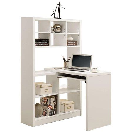 Computer Desk Bookcase by Bowery Hill Computer Desk With Bookcase In White Walmart