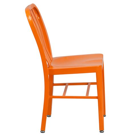 orange metal indoor outdoor chair ch 61200 18 or gg by