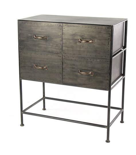 commode style industriel commode d atelier style industriel en m 233 tal gris 4 tiroirs