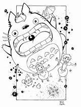 Totoro Miyazaki Vizinho 塗り絵 Hayao Kiki Getdrawings Tonari Dino Newgrounds 犬夜叉 いい ぬりえ 子供 ため 大人 クラフト シート かっこ Colorironline sketch template