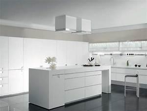 cuisine blanche et grise 30 designs modernes et elegants With cuisine grise et blanche