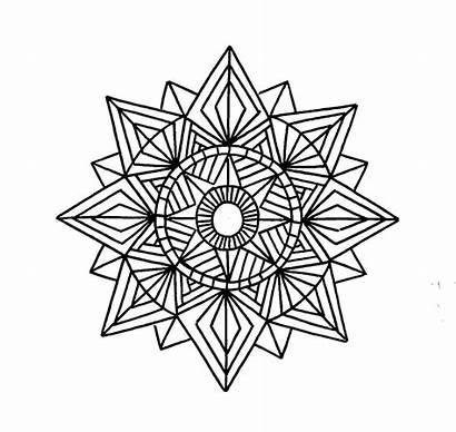 Geometric Coloring Pages Mandala Printable Shapes Drawing