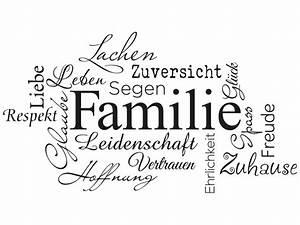 Wandtattoo Sprüche Familie : wandtattoo familie von klebeheld wandtattoos ~ Frokenaadalensverden.com Haus und Dekorationen