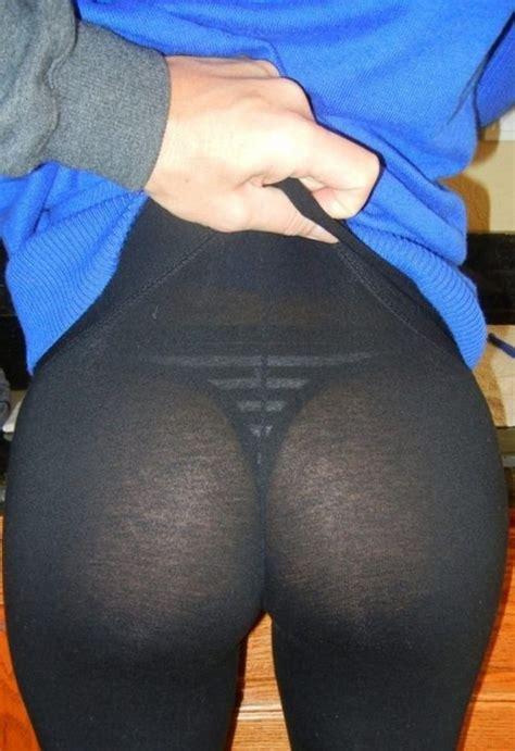 Nice Ass In See Thru Black Leggings | CLOUDY GIRL PICS
