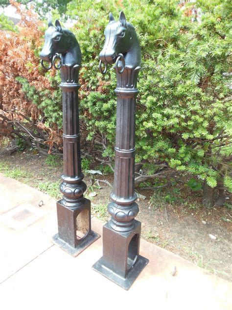 l posts for sale antique hitching posts with horse heads at 1stdibs