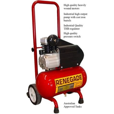 hp130 12 renegade industrial compressor 2hp 12 l folding handle air compressors tradetools