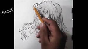 Cómo dibujar anime o manga Dibujo a lápiz chica paso a paso técnica estilo manga YouTube