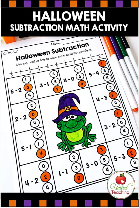 halloween math activities kindergarten  images