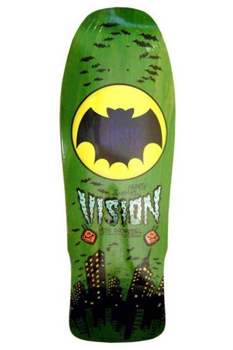 vision marty jinx jimenez mini concave skateboard deck lime stain ebay