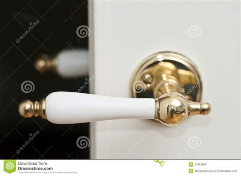 white and golden door handle royalty free stock image image 17312866