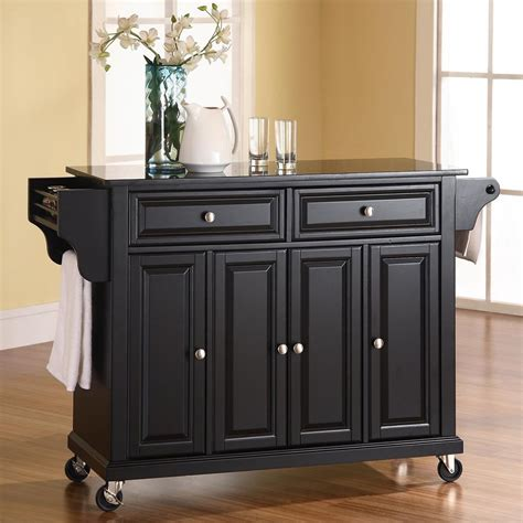 kitchen islands shop crosley furniture black craftsman kitchen island at