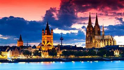 4k Germany Europe Cologne Cathedral Night Architecture