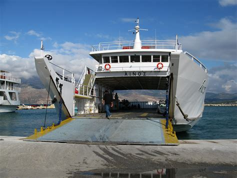 Ferry Boat Kefalonia Zakynthos by Ferry Boat Argostoli Lixouri Kefalonia Photo From