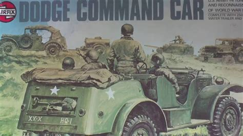 Review Vintage Airfix 135 Dodge Command Car With 250 Gall