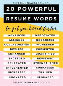 power words for resumes best 25 resume templates ideas on cv template