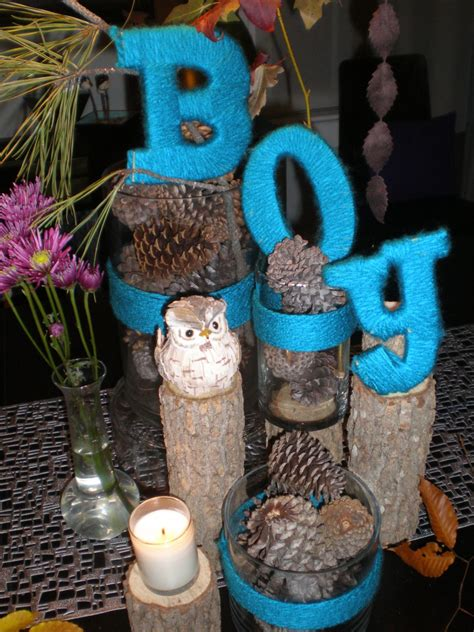 baby shower decoration for boy handmade holidays with yarn and coffee filters the