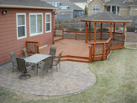 Patio Deck by Deck Patio Combinations Decktec Outdoor Designs