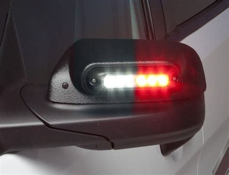 whelen ford   truck side view mirror beams