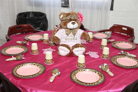 pink  leopard baby shower party ideas photo