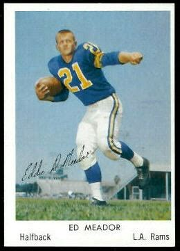 ed meador  bell brand rams  vintage football