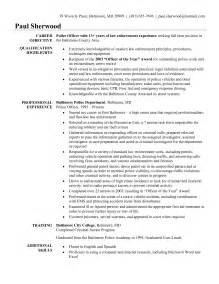 entry level officer resume with no experience free enforcement resume exle writing resume sle writing resume sle