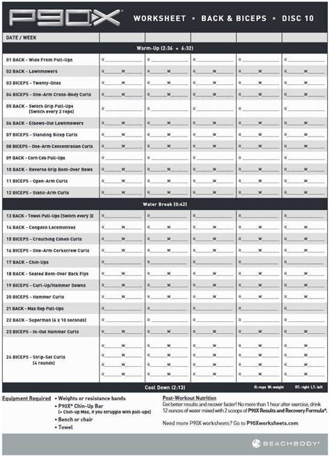 p90x worksheet homeschooldressage