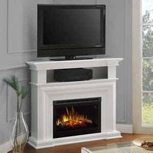colleen wall  corner electric fireplace media console