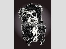 Day Of The Dead Calavera Woman Vector Art Thinkstock