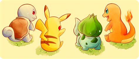 Pokemon  Kanto Starters By Oronoda On Deviantart