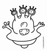 Alien Coloring Pages Printable Aliens Eyes Drawing Three Face Easy Scary Clipart Space Template Getdrawings Eye Getcolorings Templates Library Craft sketch template