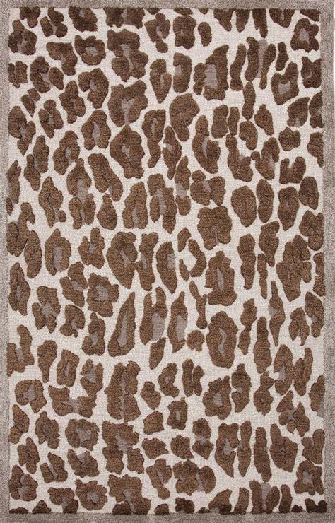 leopard print rug animal print jaipur rugs midtown raymond brown wool 14961