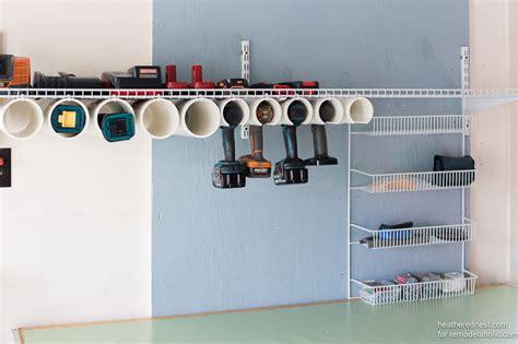 remodelaholic quick  easy diy power tool organizer