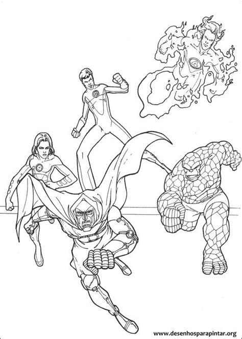 quarteto fantastico desenhos  colorir imprimir  pintar  coisa senhor fantastico