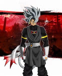 Goku Super Saiyan Black White