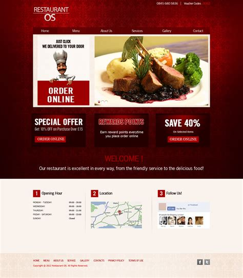 cuisine site restaurant fast food takeaway pizza website templates