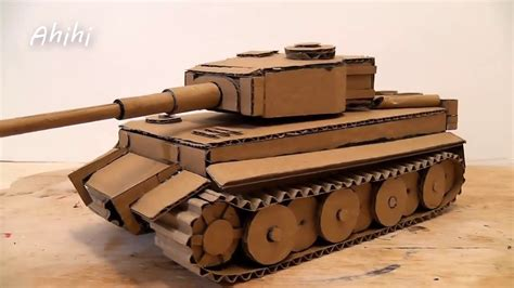 How To Make A Tank From Cardboard Youtube