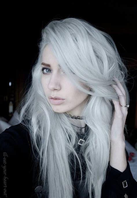 silver white platinum hair images  pinterest