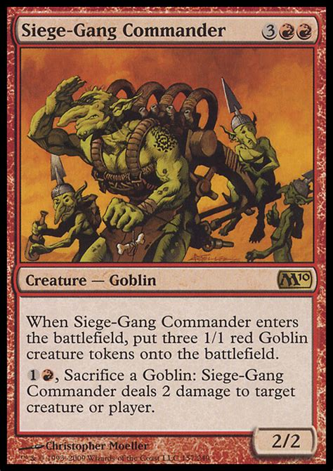 Goblin Commander Deck Wort by Siege Commander 3 95 Price History From Major