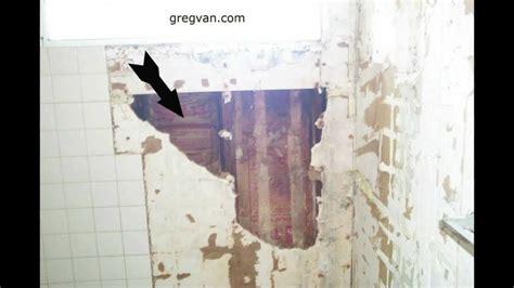 bathtub wall bathtub and shower wall damage green board drywall and