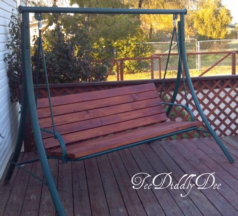 recycle  patio swing chair   wooden   fix