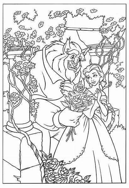 Beast Coloring Disney Belle Princess Printable Colouring