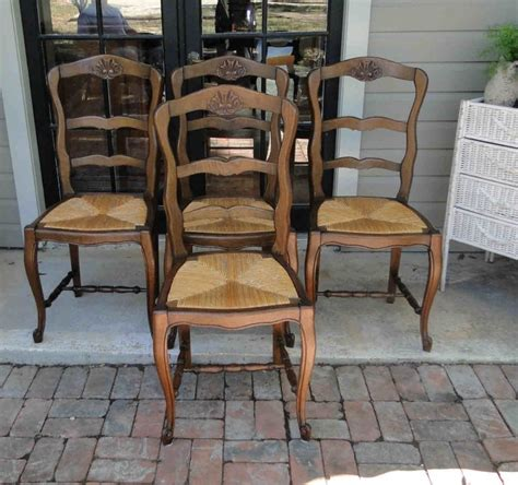 antique country ladder back dining chairs carved