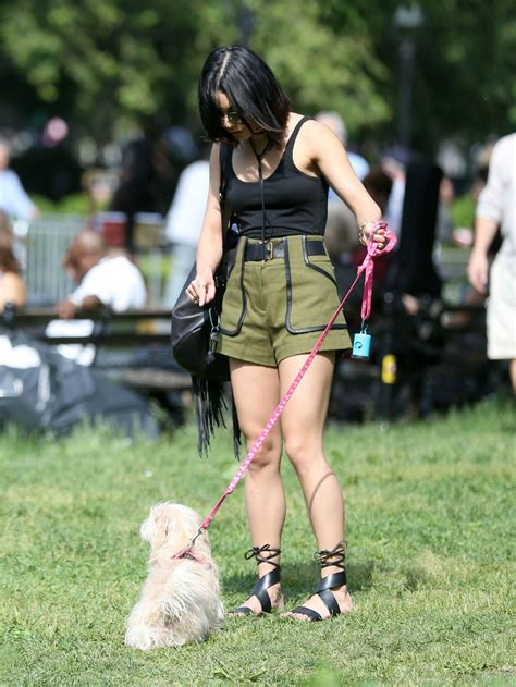 Vanessa Hudgens - Taking Her Dog to a Park in New York ...