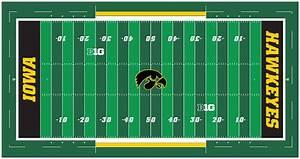 New Kinnick Stadium Turf Includes Tigerhawk Logo At The 50