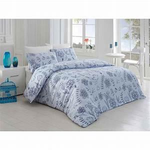 Parure De Lit Bleu : nazenin parure de lit bleu fonc brandalley ~ Teatrodelosmanantiales.com Idées de Décoration