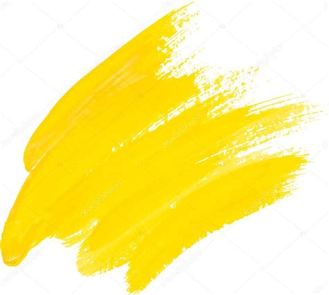 Yellow Watercolor Texture Paint Stain Shining Brush Stroke ...